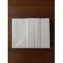 Трубочка для коктейля бумажные белые Д-6мм L- 195мм 250шт/упак. /1000